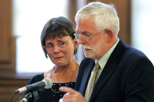 The emotional John and Nancy Hoban read a victim impact statement at a sentencing hearing in Rhode Island