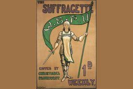 Poster advertising the Suffragette newspaper, 1912. Artist: Hilda Dallas