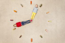 Kids telling time