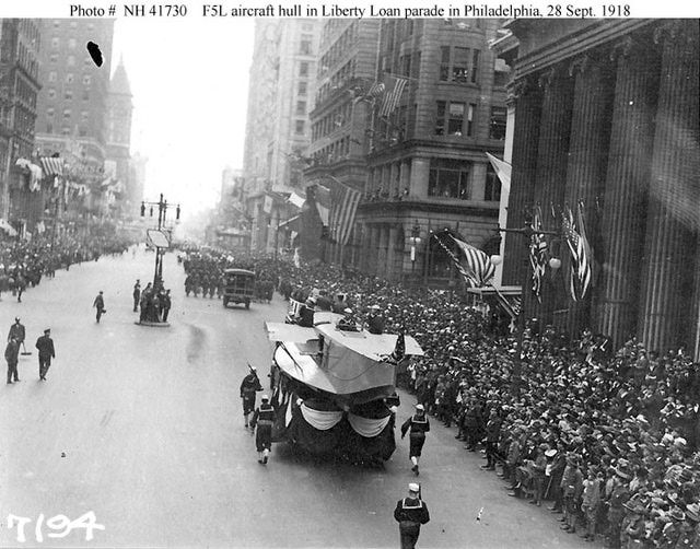 A picture of the Liberty Loan Parade in Philadelphia just days before an outbreak of influenza.