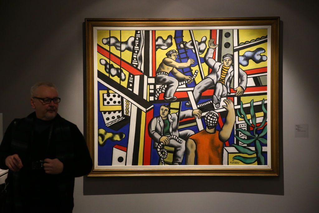 Leger painting in Post War European Art Exhibition in Moscow