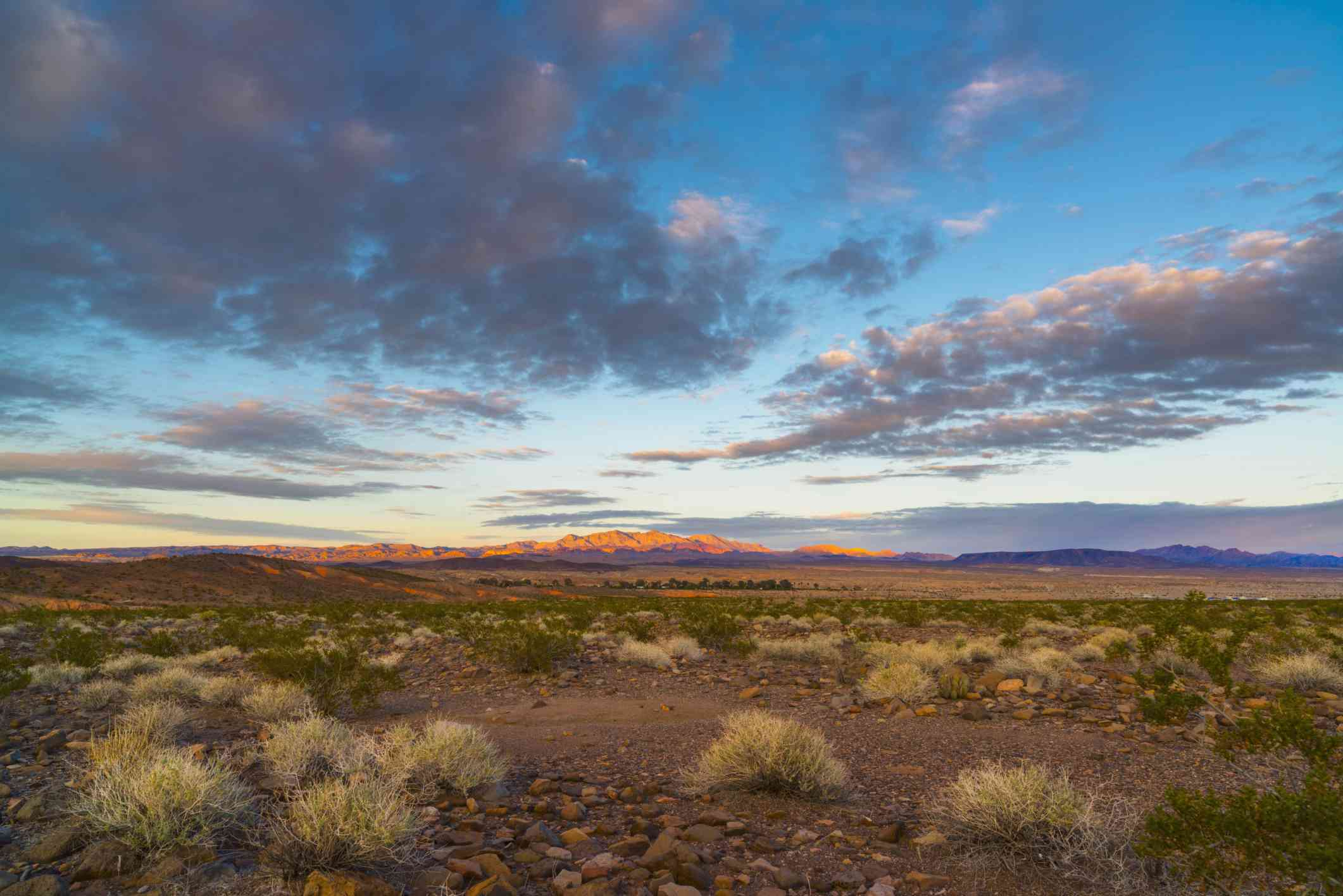 Continental tropical air forms over desert landscapes like in Nevada