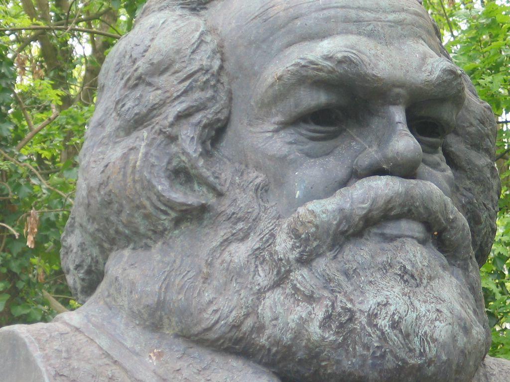 Karl Marx's Gravestone, Highgate Cemetery, London, England