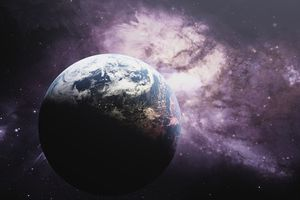 Picture of Earth as seen in space.
