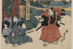 Painting of samurai by Kuniyasu Utagawa.