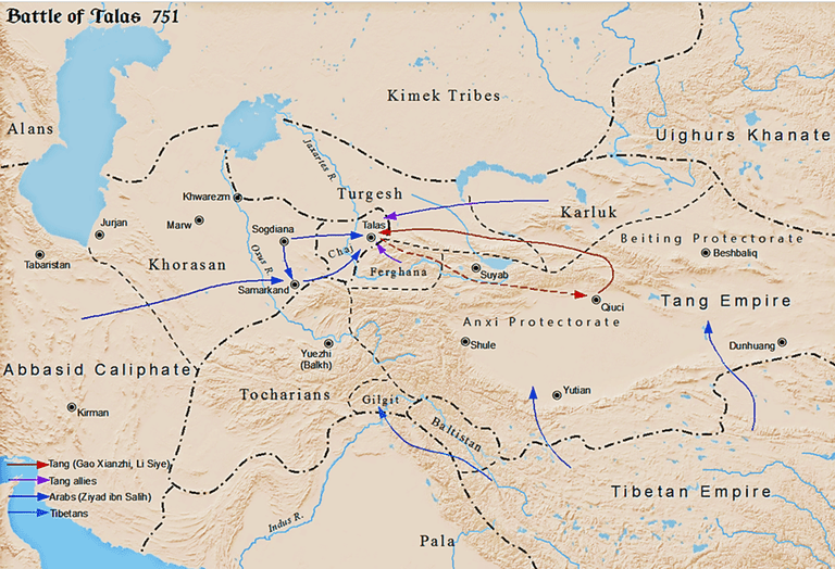 graphic of the Battle of Talas
