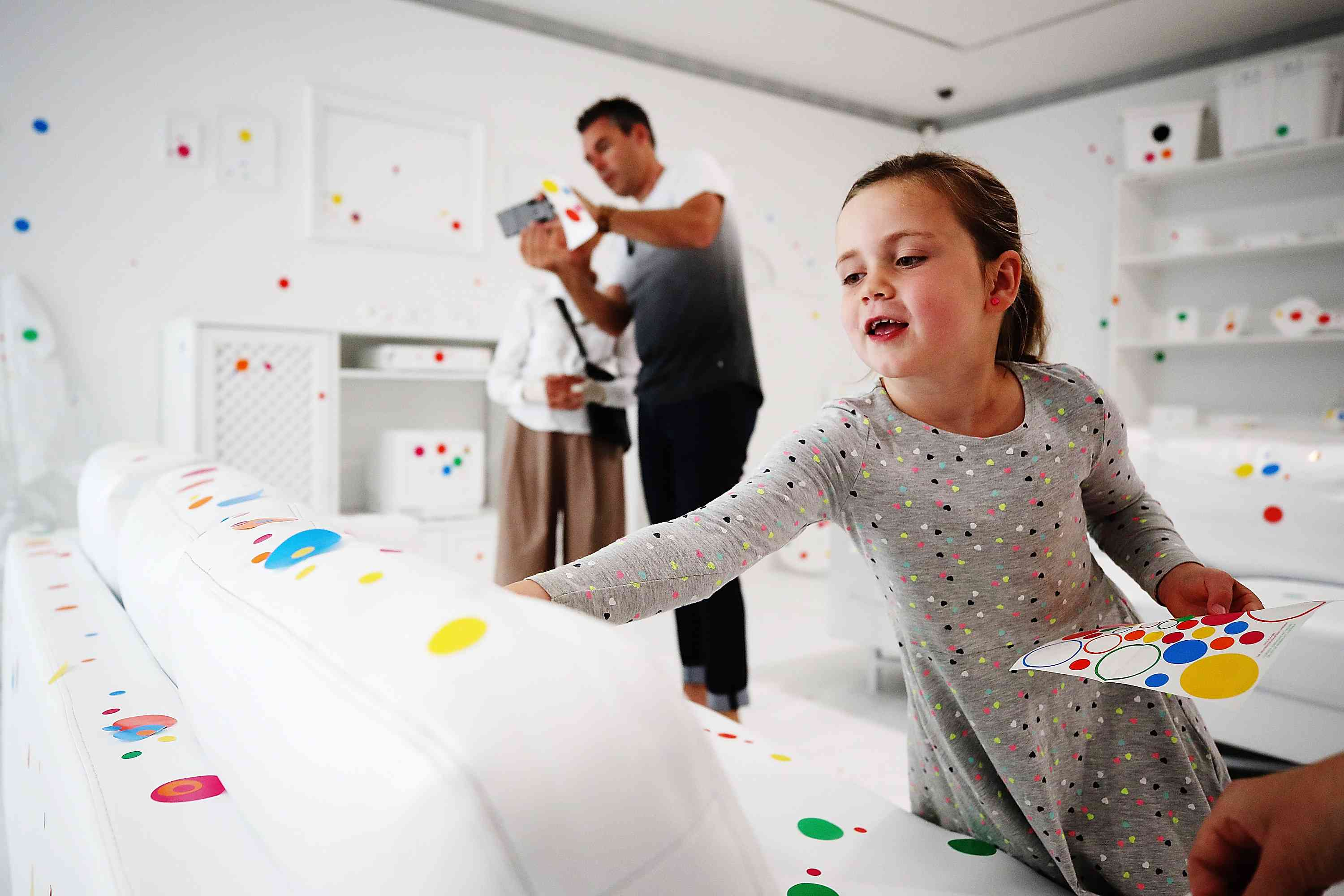 Gallery Visitors Make Their Mark On Yayoi Kusama's 'The Obliteration Room'