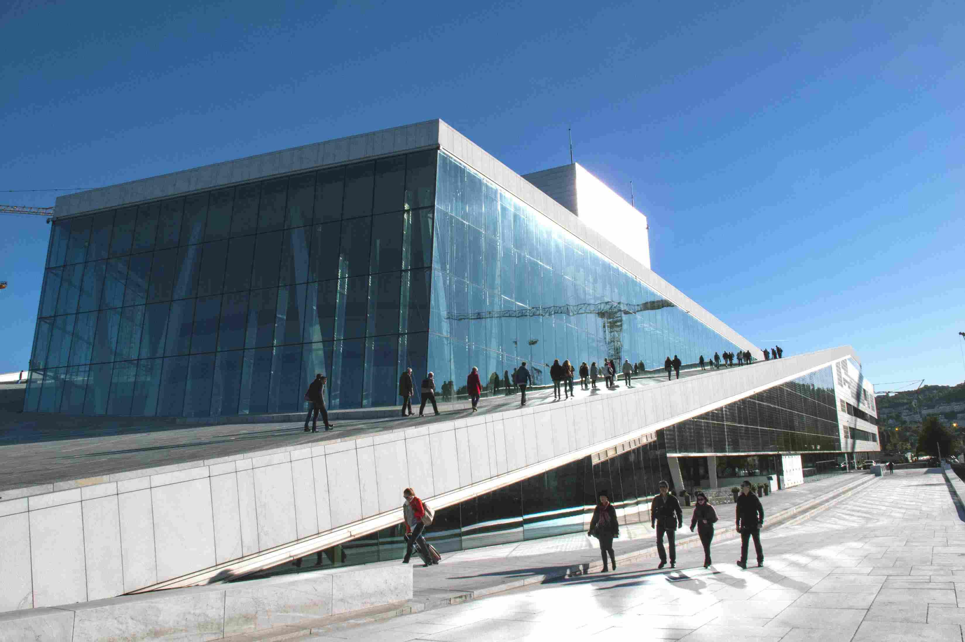 Walking the Oslo Opera House