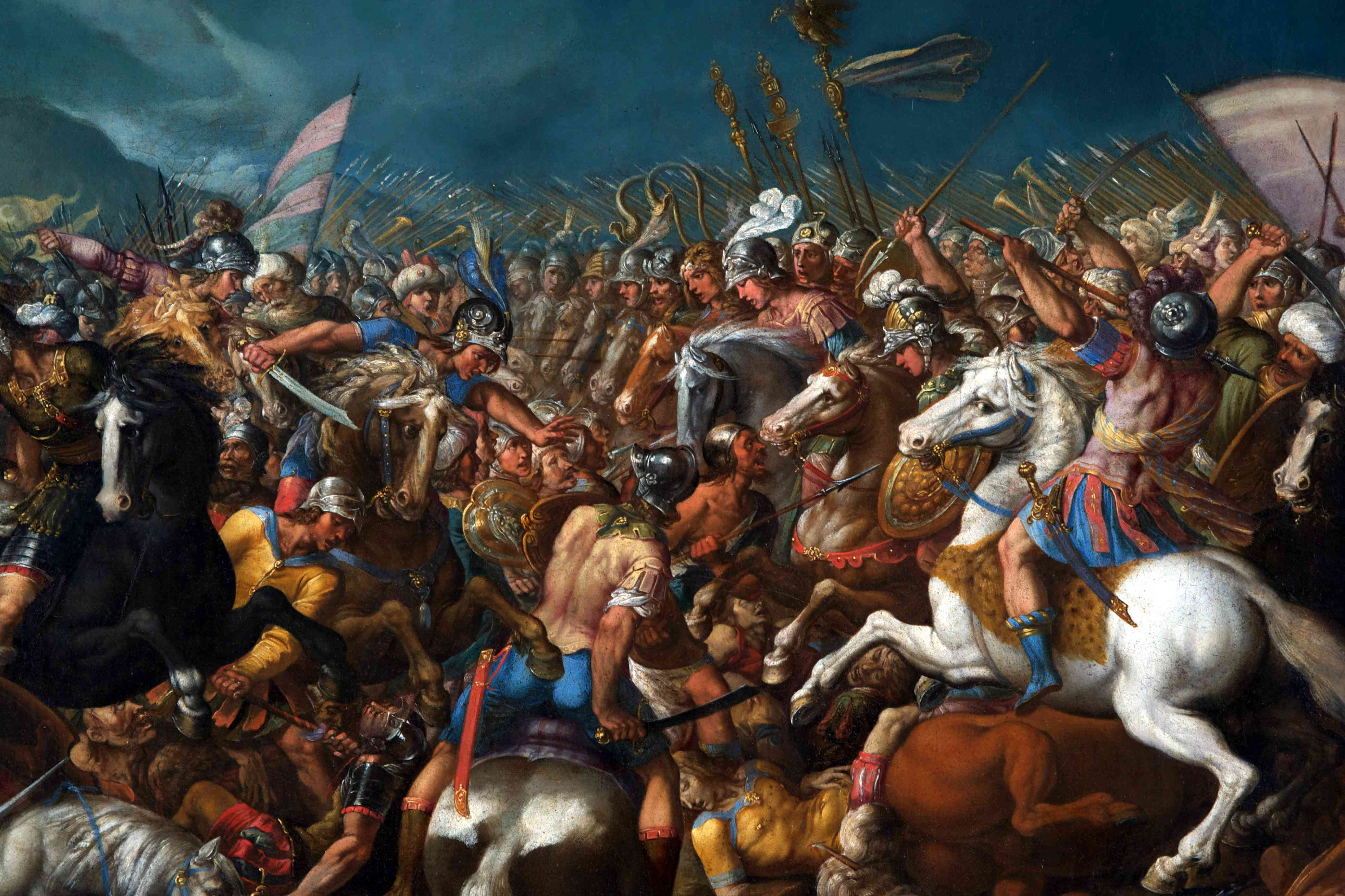 The fight between Scipio Africanus and Hannibal shows cavalry clashing