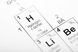 Hydrogen element on the periodic table