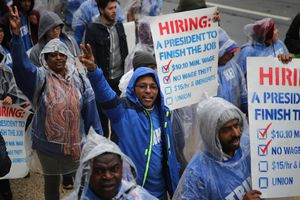 Protestors On National Day Of Action For $15 Minimum Wage