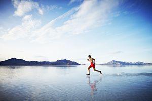 Image of a man walking on water