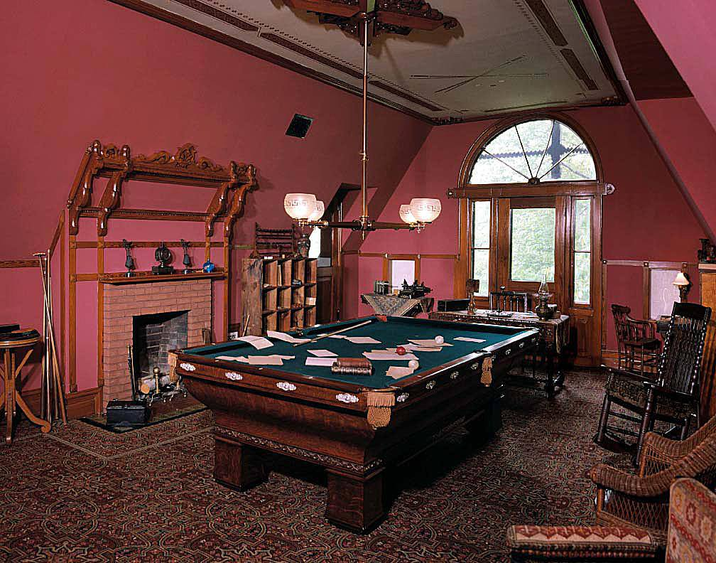 The third floor Billard Room in Mark Twain's house was a gathering place.