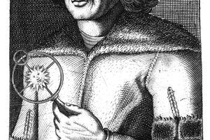 Illustration of Nicolas Copernicus.