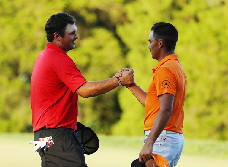 Patrick Reed and Rickie Fowler at the 2016 Barclays