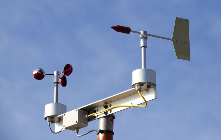 An anemometer on a weather vane