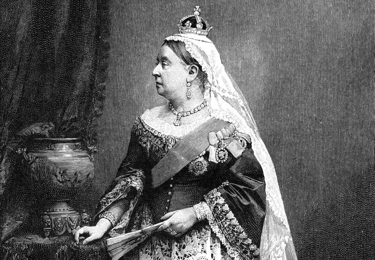 Engraved portrait of Queen Victoria