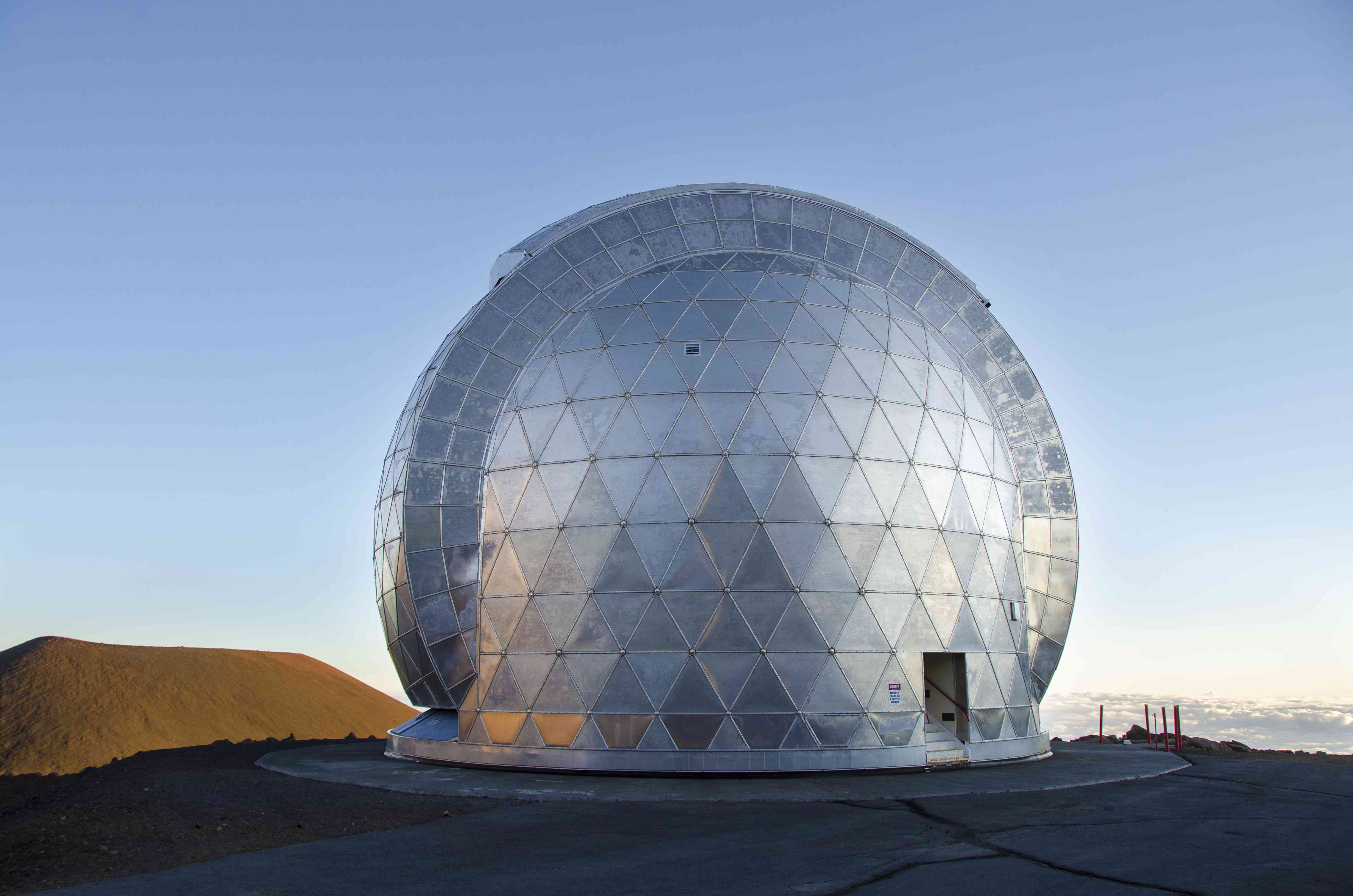geodesic dome of Caltech Submillimeter Observatory, Mauna Kea Observatories, Hawaii