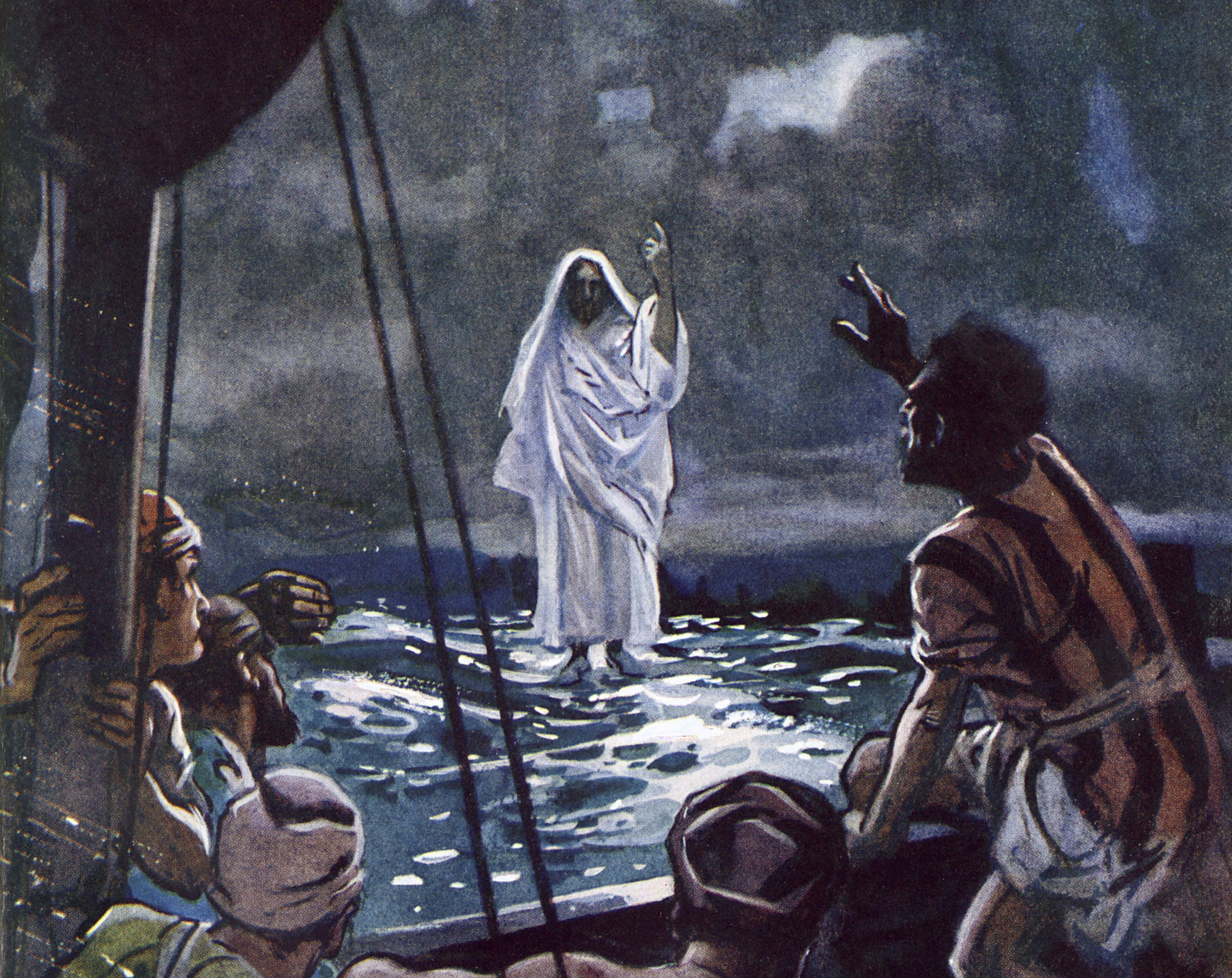 jesus walks on water  bible story summary and lessons