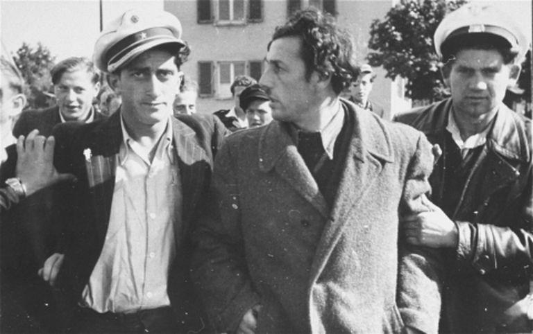 Jewish police detain a former Kapo