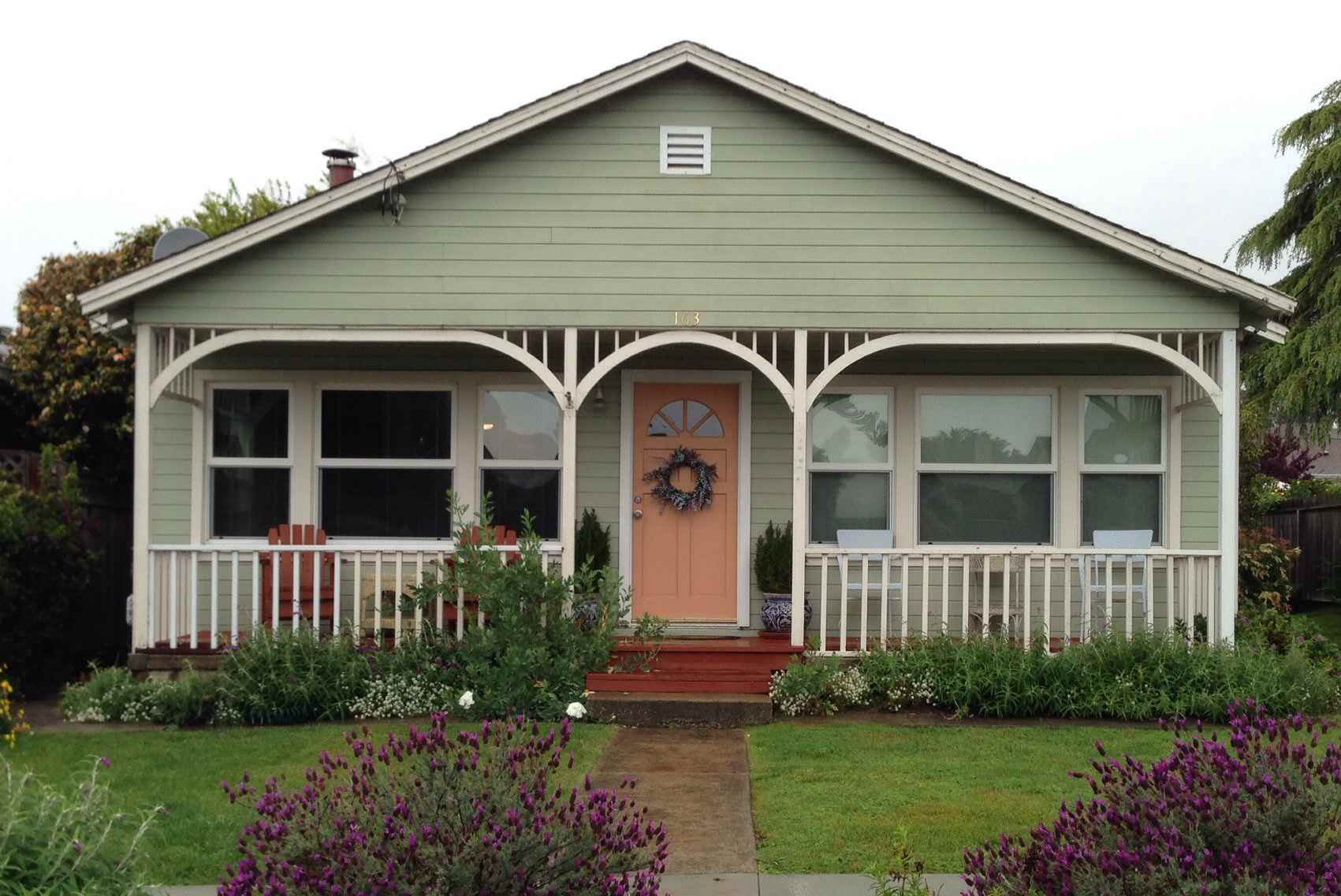 Front Gable Creates Front Porch for this Bungalow