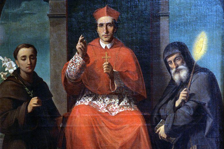 Saint Charles Borromeo with Saints Anthony of Padua and Francis of Paola