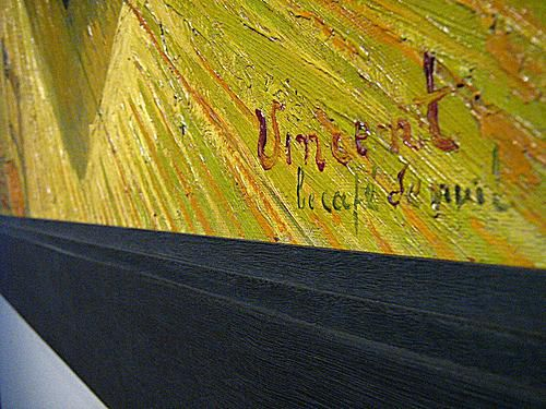 Vincent van Gogh Signature on The Night Cafe