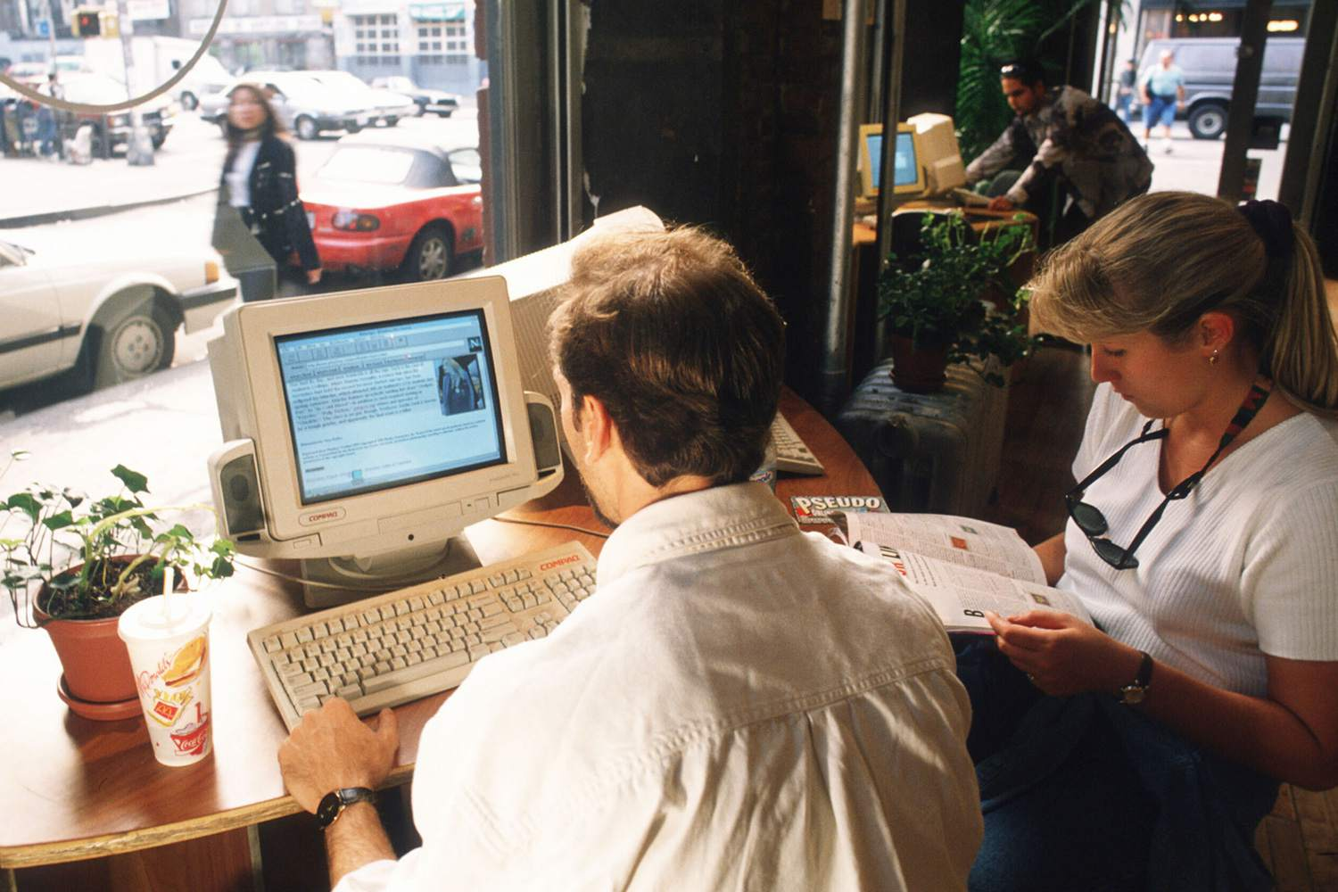 The internet burst onto the scene in the '90s, changing life forever.