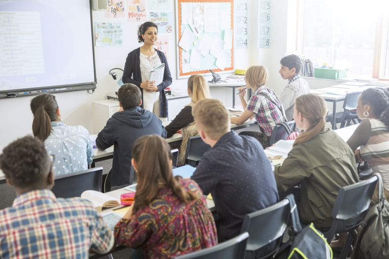 kids in English class