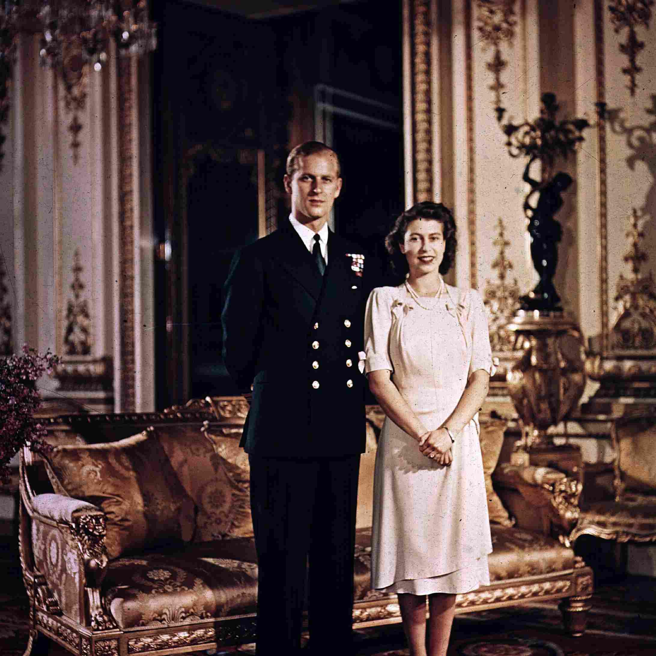 エリザベス王女とフィリップ王子