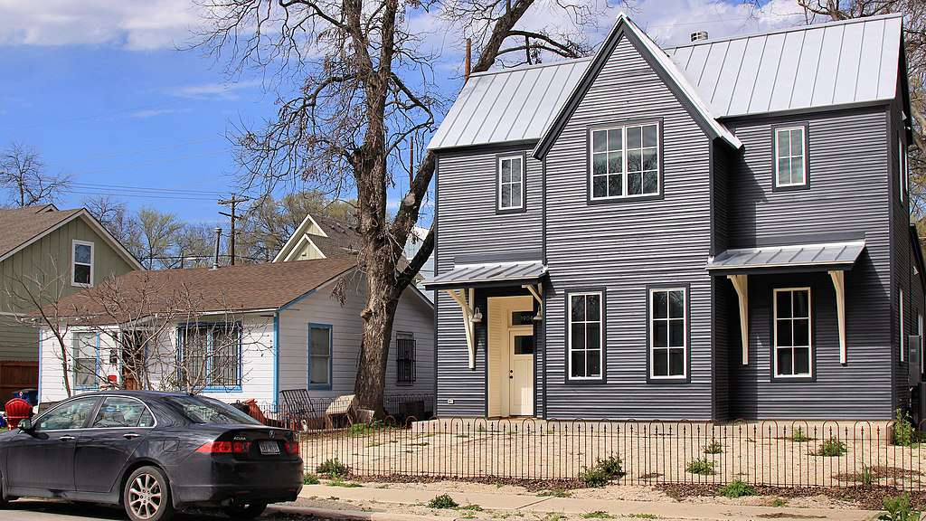 The gentrification of the once largely Hispanic area of East Austin, Texas.
