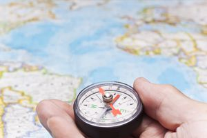 Compass next to map