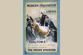 A London suffragette prisoner being force-fed, 1910