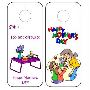 Mother's Day printable door hangers