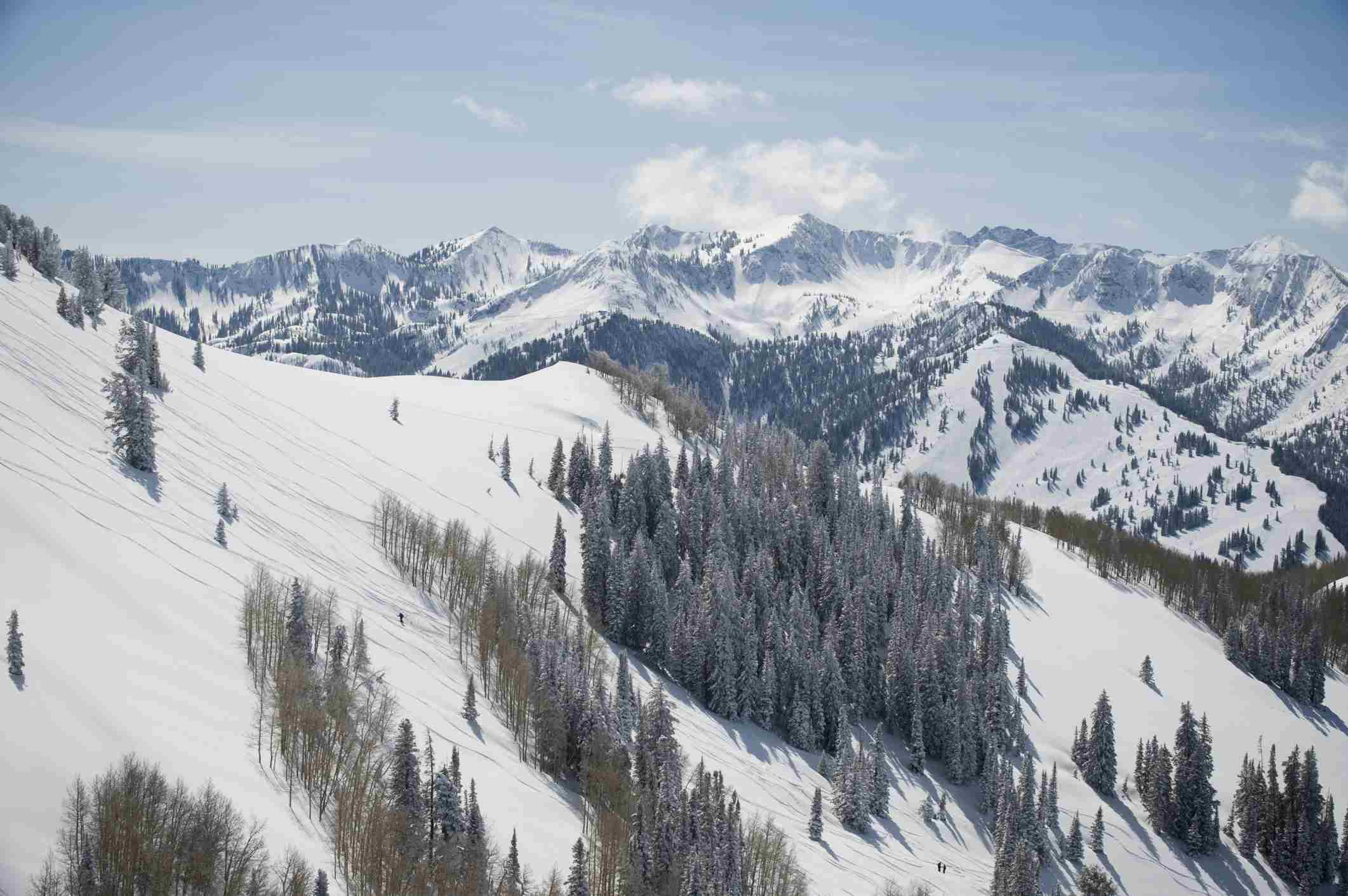 Snow covered mountains, Wasatch Mountains, Utah
