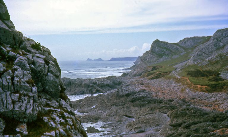 View from Paviland Cave, Gower Coast of Wales
