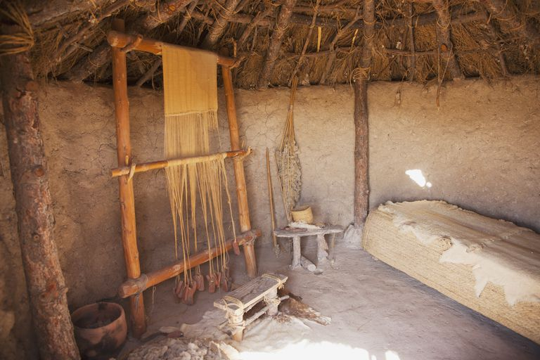 Interior Work Area At Los Millares; Almeria Andalusia Spain