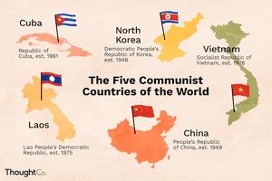 Communist countries of the world