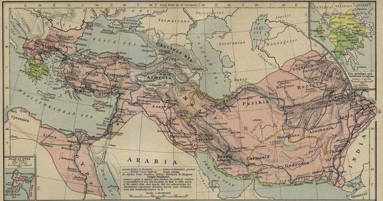 The Macedonian Empire, 336-323 B.C.