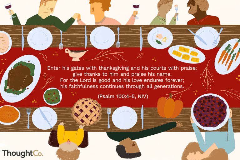 Illustration of a Thanksgiving blessing