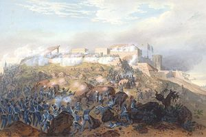 Fighting for Chapultepec, 1847