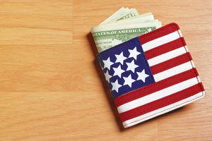 Wallet shaped like an American flag