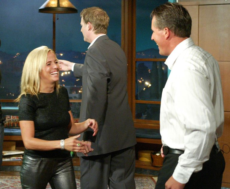 Amy mickelson stories and photos of life with phil amy mickelson greets husband phil on the set of the craig kilborn show junglespirit Images