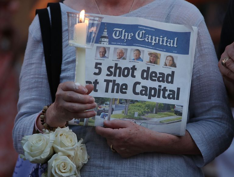 At Least 5 Killed In Shooting At Annapolis Capital-Gazette Newspaper