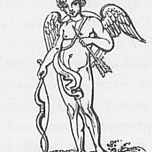 Ein Bild des Gottes Cupid oder Eros aus Keightleys Mythologie, 1852.