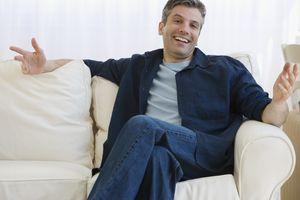 man smiling and shrugging
