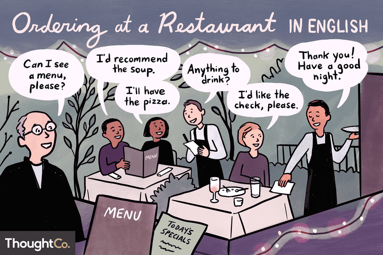 Ordering at a restaurant in English