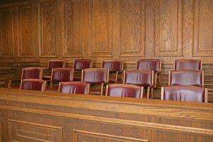 A jury box