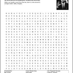 John F. Kennedy Wordsearch