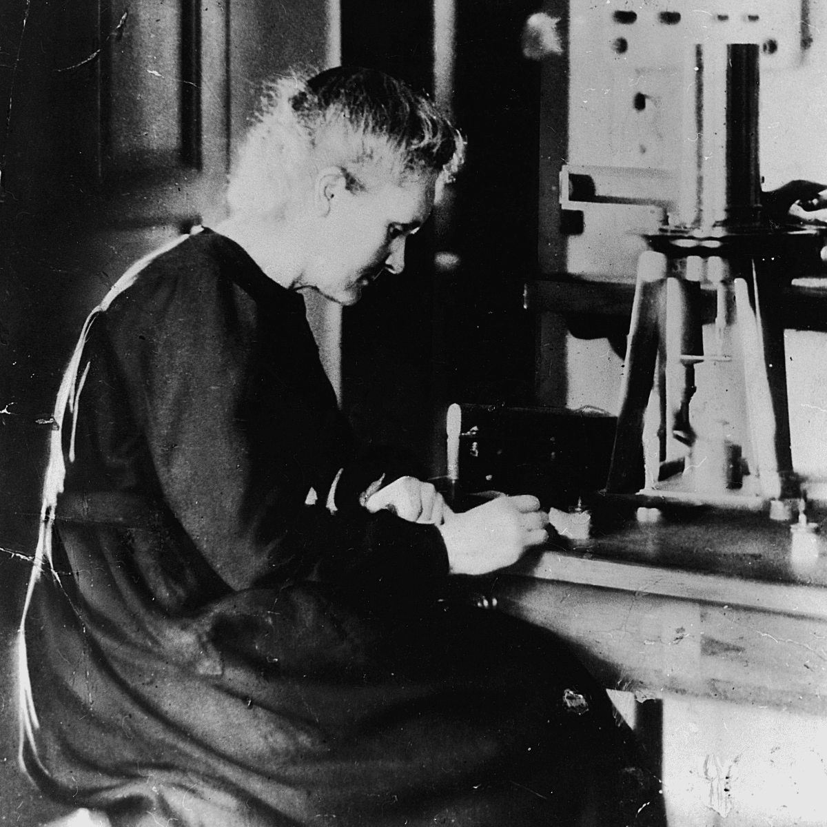 Marie Curie in Laboratory, 1920
